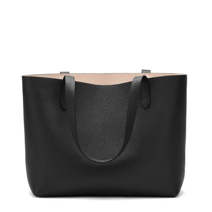 Casual Style A4 3WAY Plain Leather Office Style