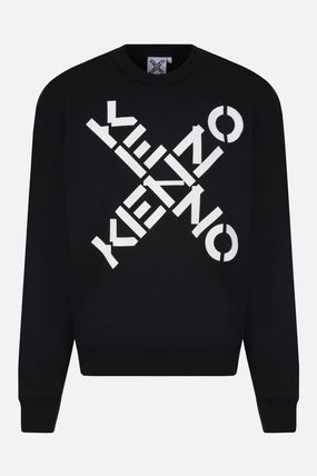 KENZO Sweatshirts Crew Neck Sweat Long Sleeves Plain Cotton Logo Designers 2