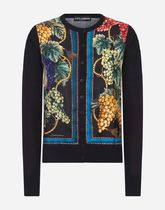 Dolce & Gabbana Casual Style Cashmere Silk Long Sleeves Cashmere