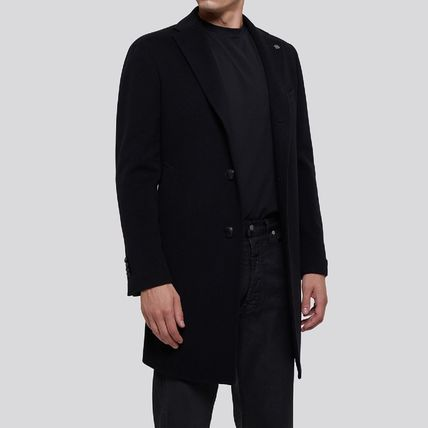 Wool Cashmere Plain Long Coats