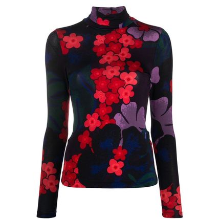 Flower Patterns Casual Style Long Sleeves Office Style