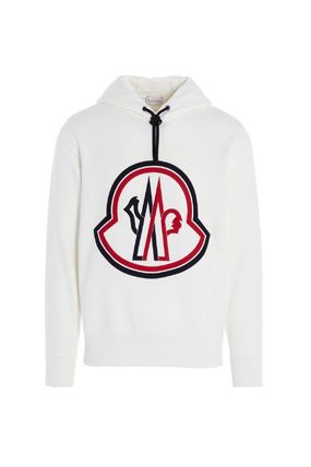 MONCLER Hoodies Unisex Street Style Collaboration Long Sleeves Plain Cotton 3