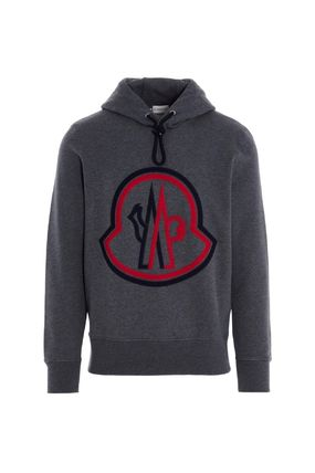 MONCLER Hoodies Unisex Street Style Collaboration Long Sleeves Plain Cotton 4