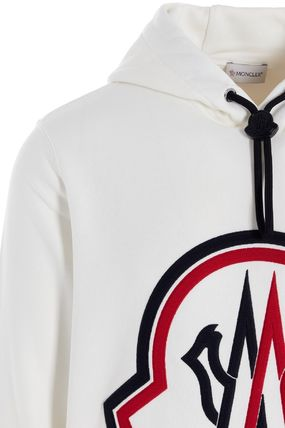 MONCLER Hoodies Unisex Street Style Collaboration Long Sleeves Plain Cotton 7