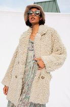 Free People Casual Style Plain Medium Shearling Peacoats