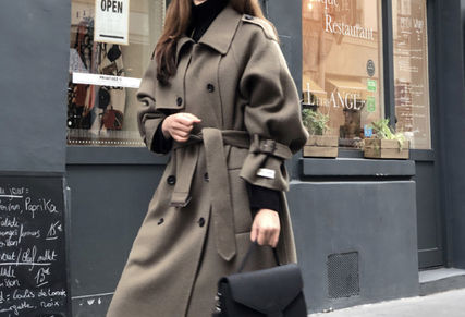 Casual Style Plain Long Office Style Coats