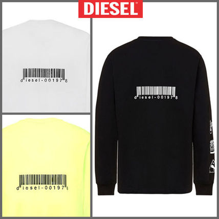 DIESEL Long Sleeve Street Style Long Sleeves Cotton Long Sleeve T-shirt