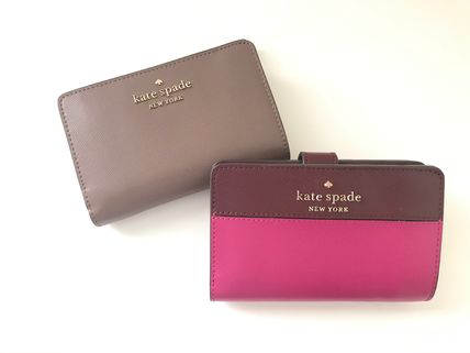 Plain Leather Long Wallet  Folding Wallets