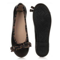 FENDI Blended Fabrics Kids Girl Ballet Flats