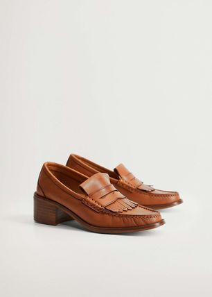 Plain Leather Loafer & Moccasin Shoes