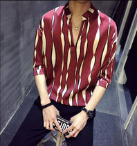 Shirts Button-down Street Style Bi-color Cropped Shirts 7