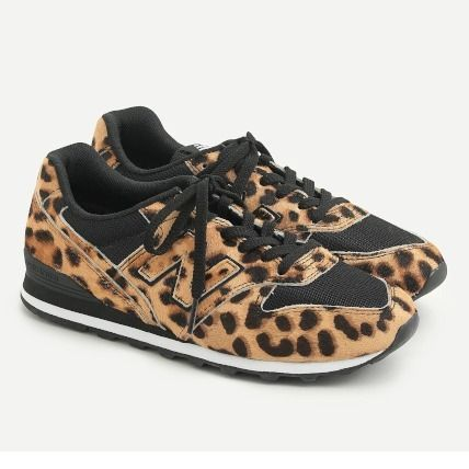 New Balance Leopard Patterns Round Toe Rubber Sole Casual Style