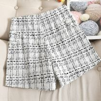 Short Zigzag Casual Style Wool Cashmere Shorts