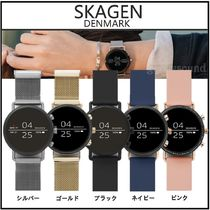SKAGEN DENMARK Casual Style Silicon Round Stainless Office Style