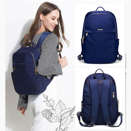 Casual Style Nylon A4 Plain Office Style Backpacks