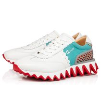 Christian Louboutin Monogram Suede Studded Street Style Logo Sneakers