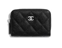 CHANEL MATELASSE Blended Fabrics Plain Leather Long Wallet  Small Wallet Logo