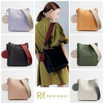 ROBINMAY Casual Style Faux Fur Plain Office Style Elegant Style