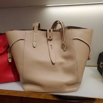 FURLA Casual Style A4 2WAY Plain Leather Office Style