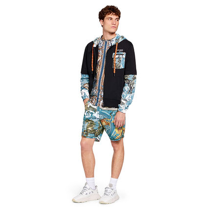 Printed Pants Street Style Other Animal Patterns Shorts