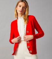 Tory Burch Casual Style Wool Street Style Long Sleeves Plain