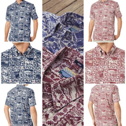 Pullovers Button-down Short Sleeves Shirts