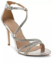 BCBGeneration Open Toe Casual Style Plain Leather Pin Heels Party Style