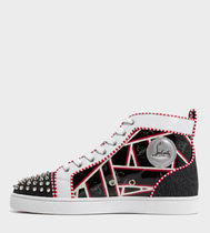 Christian Louboutin Unisex Studded Street Style Leather Logo Sneakers