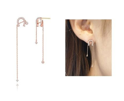 Chain 14K Gold Elegant Style Earrings