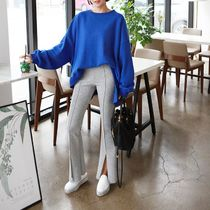 Casual Style Street Style Plain Long Midi Center Pressed