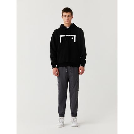 Wool Street Style Long Sleeves Plain Oversized Logo