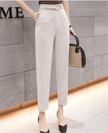 Formal Style  Casual Style Plain Long Office Style