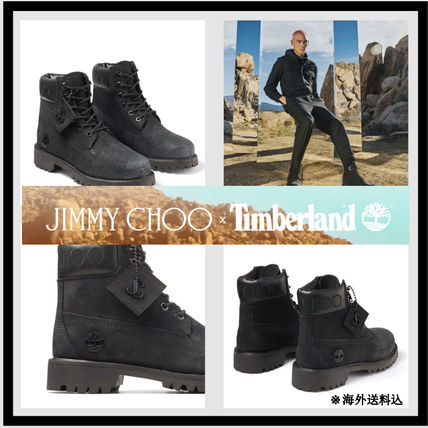 Jimmy Choo Mountain Boots Street Style Collaboration Leather Logo