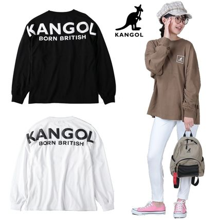 Crew Neck Street Style Long Sleeves Cotton Long Oversized