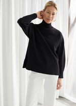 & Other Stories Wool Long Sleeves Plain Medium Turtlenecks