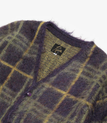 Needles Cardigans Button-down Other Plaid Patterns Star Cardigans 18