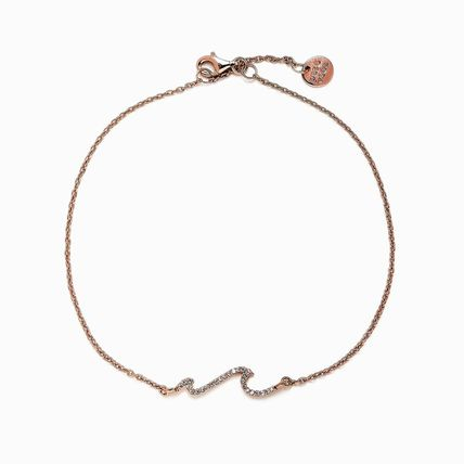 Ron Herman Unisex Street Style Silver Logo Anklets