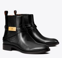 Tory Burch Cowboy Boots Casual Style Unisex Street Style Plain Leather