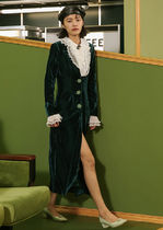 Since Then Casual Style Plain Long Party Style Elegant Style Outerwear