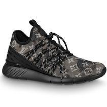 Louis Vuitton Monogram Leather Logo Sneakers