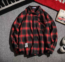 Shirts Other Plaid Patterns Street Style Long Sleeves Oversized 4