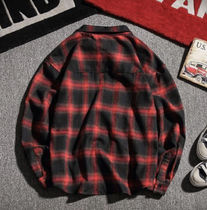 Shirts Other Plaid Patterns Street Style Long Sleeves Oversized 5