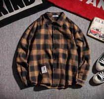 Shirts Other Plaid Patterns Street Style Long Sleeves Oversized 6