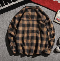 Shirts Other Plaid Patterns Street Style Long Sleeves Oversized 7