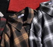 Shirts Other Plaid Patterns Street Style Long Sleeves Oversized 9