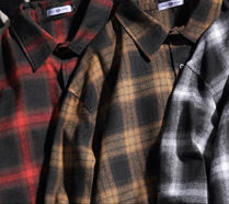 Shirts Other Plaid Patterns Street Style Long Sleeves Oversized 10