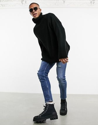ASOS Sweaters Pullovers Street Style Long Sleeves Plain Oversized Sweaters 5