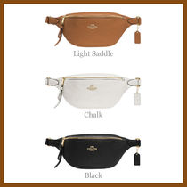 Coach Casual Style Street Style Plain Leather Logo Bags