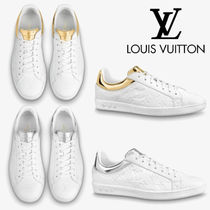 Louis Vuitton MONOGRAM Monogram Unisex Street Style Plain Leather Logo Sneakers