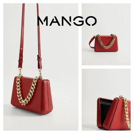 MANGO Casual Style 2WAY Party Style Elegant Style Party Bags
